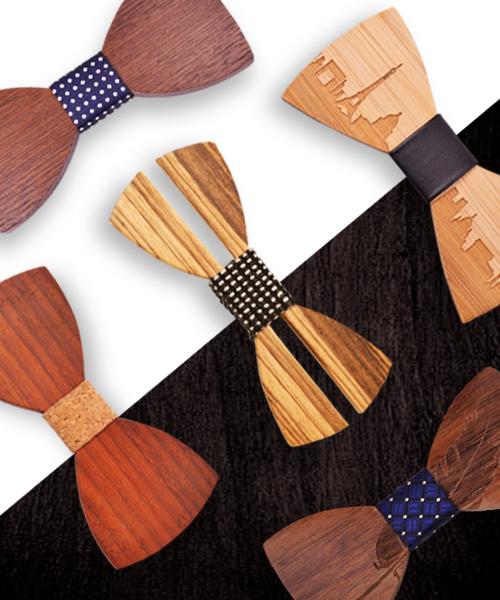 Dřevěné motýlky woodlux