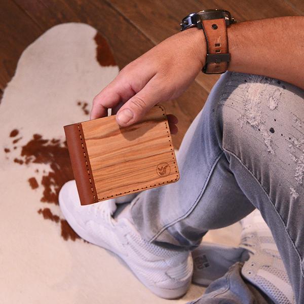 Dřevěné peněženky s kvalitní kůží woodlux